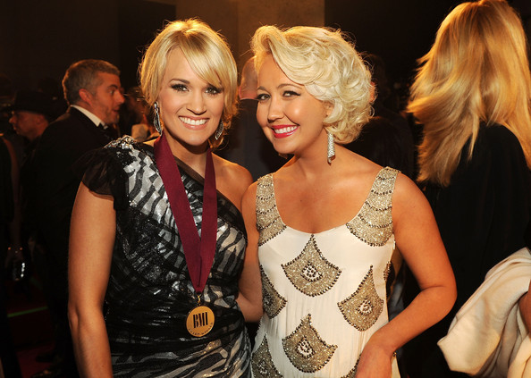 More Pics of Carrie Underwood Bobby Pinned Updo (1 of 5) - Carrie Underwood Lookbook - StyleBistro