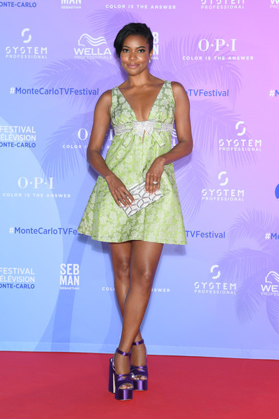 More Pics of Gabrielle Union Baby Doll Dress (1 of 12) - Gabrielle Union Lookbook - StyleBistro [clothing,dress,fashion model,cocktail dress,red carpet,fashion,carpet,shoulder,hairstyle,footwear,gabrielle union,monte-carlo,monaco,tv series party,monte carlo tv festival]