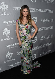 Rachel Bilson was a blooming beauty in this Dolce & Gabbana floral gown at the Baby2Baby Gala.