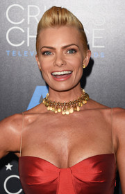 Jaime Pressly sported a funky half-shaved fauxhawk at the Critics' Choice Television Awards.
