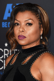 Taraji P. Henson looked ultra glam wearing this loose chignon at the Critics' Choice Television Awards.