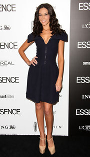 Terri Seymour wore this avant-garde zip-up dress to the Essence Luncheon.