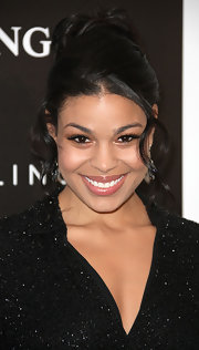 Jordin Sparks wore her hair in a sweet updo featuring a loose bun and soft spiral curls at the 5th Annual 'Essence' Black Women in Hollywood luncheon.