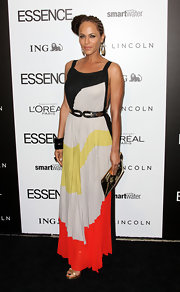 Nicole Ari Parker wore this multicolored maxi dress to the Essence Luncheon.