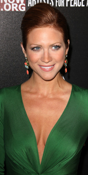 More Pics of Brittany Snow Bobby Pinned Updo (1 of 4) - Brittany Snow Lookbook - StyleBistro