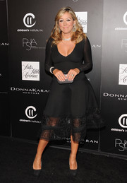 Marigay McKee donned an ultra-chic mesh-hem LBD for the PSLA Autumn Party.