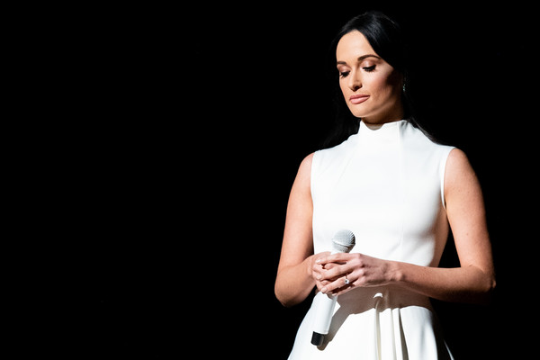 More Pics of Kacey Musgraves Evening Dress (1 of 88) - Kacey Musgraves Lookbook - StyleBistro [white,beauty,fashion,fashion model,dress,photography,fashion design,formal wear,neck,model,staples center,los angeles,california,grammy awards,kacey musgraves]