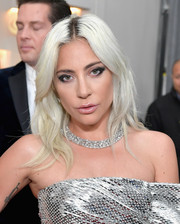 Lady Gaga sported a center-parted layered cut at the 2019 Grammys.
