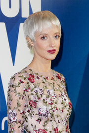 Andrea Riseborough looked fab with her platinum-blonde pixie at the BFI London Film Festival Awards.