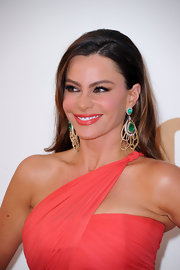 Sofia Vergara wore a bold, coral lipstick to the 63rd Emmys. The shade exactly matched her vibrant gown. To try her look, we recommend a product like Nars Lipstick in Niagara