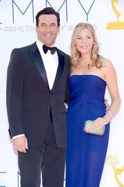 Jennifer Westfeldt added a dose of sparkle to her look with a bejeweled clutch when she attended the Emmys.