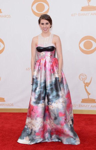 More Pics of Zosia Mamet Print Dress (1 of 13) - Zosia Mamet Lookbook - StyleBistro [red carpet,clothing,carpet,dress,flooring,red,fashion,fashion model,shoulder,gown,arrivals,zosia mamet,california,los angeles,nokia theatre l.a. live,primetime emmy awards]