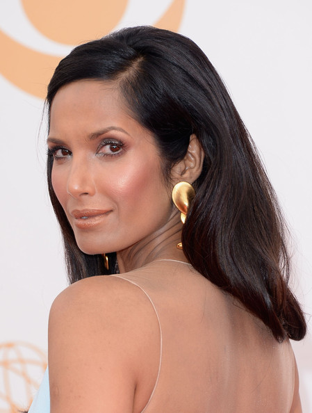 More Pics of Padma Lakshmi Long Straight Cut (1 of 22) - Long Straight Cut Lookbook - StyleBistro
