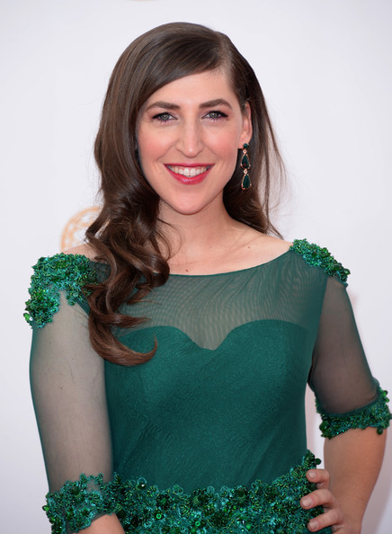 More Pics of Mayim Bialik Long Wavy Cut (1 of 9) - Long Wavy Cut Lookbook - StyleBistro