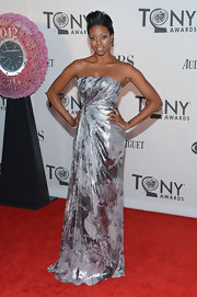 Condola Rashad shined at the Tony Awards in this rose-print metallic gown.