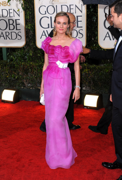 Diane Kruger in Christian Lacroix Haute Couture, Golden Globes 2010