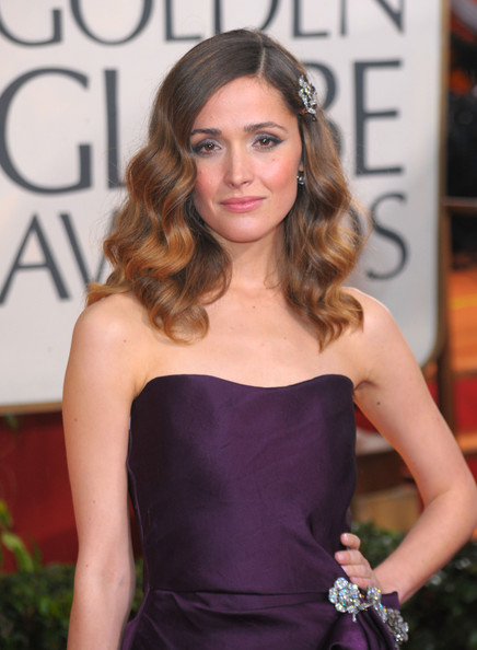 More Pics of Rose Byrne Strapless Dress (1 of 10) - Rose Byrne Lookbook - StyleBistro [hair,hairstyle,clothing,shoulder,dress,beauty,long hair,fashion,strapless dress,premiere,arrivals,rose byrne,beverly hills,california,the beverly hilton hotel,golden globe awards]