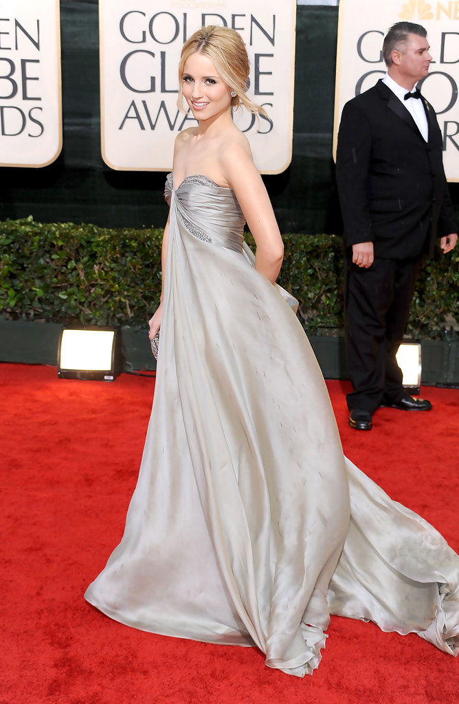 Actress Dianna Agron arrives at the 67th Annual Golden Globe Awards held at The Beverly Hilton Hotel on January 17, 2010 in Beverly Hills, California.