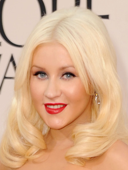 More Pics of Christina Aguilera Medium Curls (1 of 32) - Medium Curls Lookbook - StyleBistro