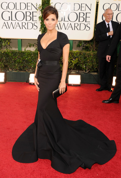 Eva Longoria in Zac Posen, Golden Globes 2011