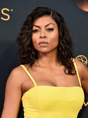 Taraji P. Henson rocked wet-look curls at the Emmys.