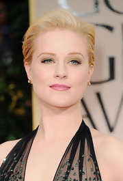 Evan Rachel Wood wore sheer sweeps of metallic gold shadow to complement her blue eyes at the 69th Annual Golden Globe Awards.