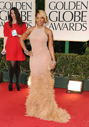 Mary J. Blige was a feathered confection at the Golden Globe Awards.