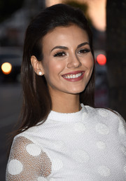 Victoria Justice opted for a neat, slicked-back hairstyle when she attended the Elle Women in Music celebration.