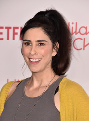 Sarah Silverman sported a high-volume ponytail at the 2018 Hilarity for Charity event.