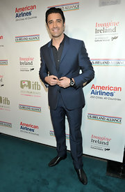 Attending a pre-Oscars party in LA, Gilles Marini meant business in his trendy blue tailored suit.