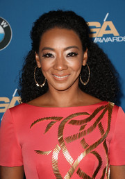 Betty Gabriel wore her hair in tight, half-up curls at the 2018 Directors Guild of America Awards.