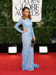 Nicole Richie stunned in this glamorously bohemian sky blue gown at the Golden Globe Awards.