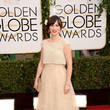 Zooey Deschanel in Oscar de la Renta at the 2014 Golden Globe Awards