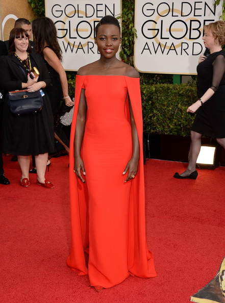 More Pics of Lupita Nyong'o Side Parted Straight Cut (1 of 10) - Side Parted Straight Cut Lookbook - StyleBistro