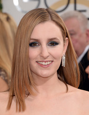 Laura Carmichael wore her hair in a hip layered cut when she attended the Golden Globes.