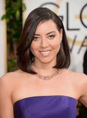 Aubrey Plaza opted for a simple mid-length bob when she attended the Golden Globes.