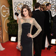 Lizzy Caplan at the 2014 Golden Globe Awards