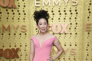 Sandra Oh Off-the-Shoulder Dress