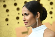 Padma Lakshmi was classic and elegant with her center-parted bun at the 2019 Emmys.