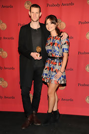 Jenna Coleman looked modern in a geometric-print mini dress at the George Foster Peabody Awards.