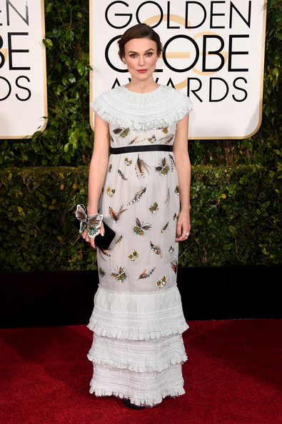 Keira Knightley at the 2015 Golden Globe Awards