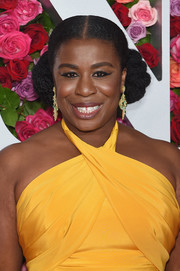 Uzo Aduba went playful with these double braided buns at the 2018 Tony Awards.