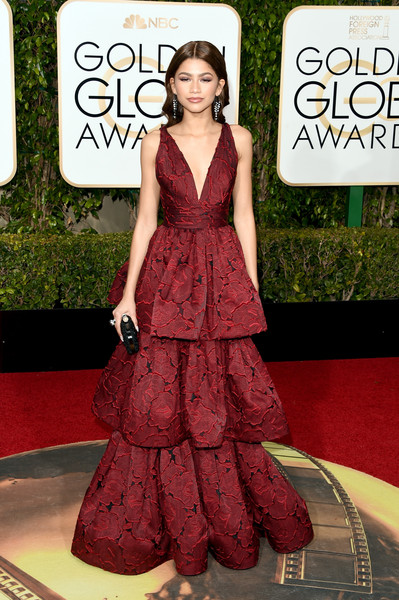 Zendaya Coleman in Marchesa, 2016 Golden Globes
