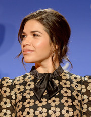 America Ferrera attended the Golden Globe nominations announcement sporting a romantic chignon.