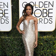 Naomie Harris in Armani Privé at the Golden Globes
