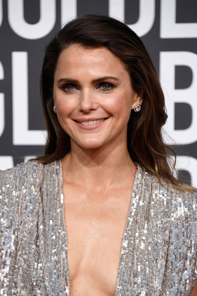 More Pics of Keri Russell Sequin Dress (4 of 12) - Dresses & Skirts Lookbook - StyleBistro [hair,hairstyle,eyebrow,lip,brown hair,premiere,blond,long hair,eyelash,layered hair,arrivals,keri russell,the beverly hilton hotel,beverly hills,california,golden globe awards]