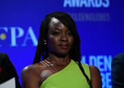 Danai Gurira wore her hair in a multi-braid style at the Golden Globe nominations announcement.