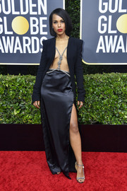 Kerry Washington styled her look with a pair of strappy heels by Magda Butrym.
