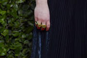 Beanie Feldstein caught our eyes with those chic statement rings by Irene Neuwirth at the 2020 Golden Globes.