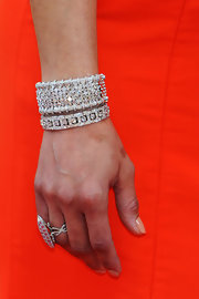 Paula Patton dazzled at the Academy Awards with a sparkling wrist of diamonds.
